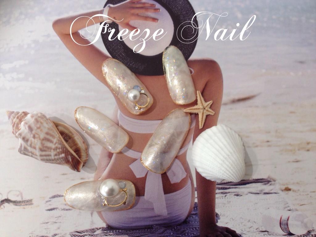 貝殻ネイル