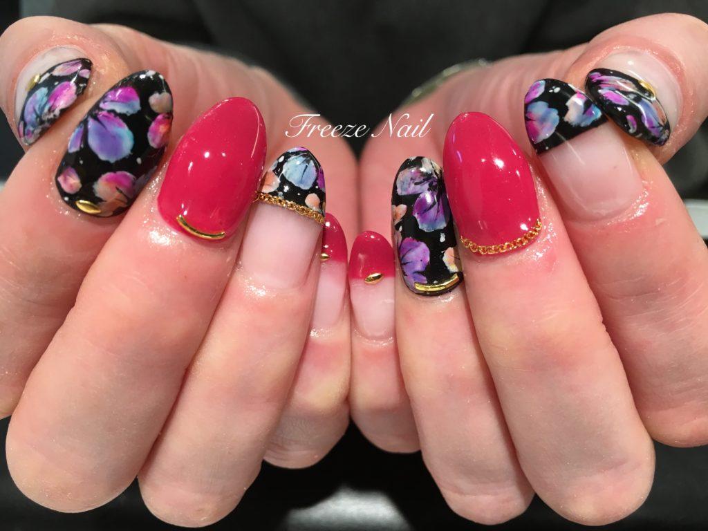 rainbowflower nail